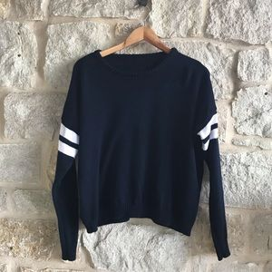 Brandy Melville Navy/White 100% Cotton Sweater